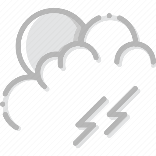 climate, forecast, morning, precipitation, storm, weather icon
