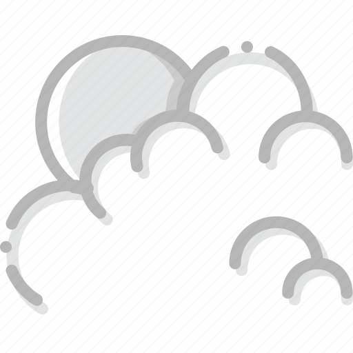 climate, cloudy, forecast, morning, precipitation, weather icon