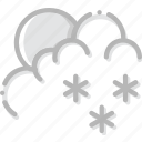 climate, forecast, morning, precipitation, snow, weather icon