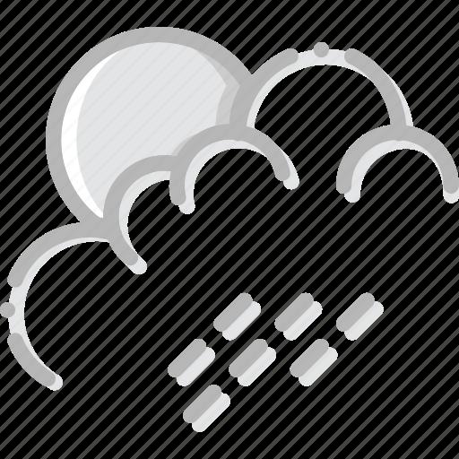 climate, forecast, morning, precipitation, rain, weather icon