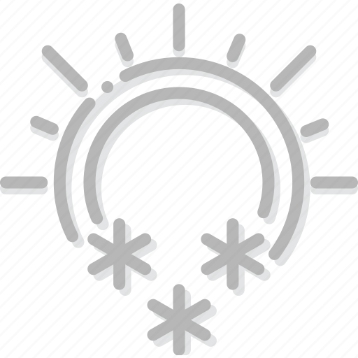 and, climate, forecast, precipitation, snowing, sunny, weather icon