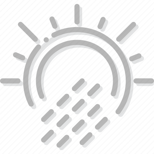 climate, forecast, precipitation, precipitations, sun, weather, with icon