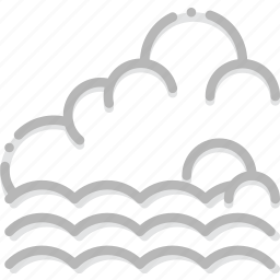 climate, forecast, incoming, precipitation, tide, weather icon