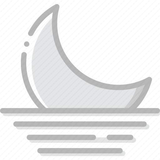 climate, forecast, moon, precipitation, settings, weather icon