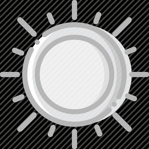 climate, forecast, precipitation, sunny, weather icon