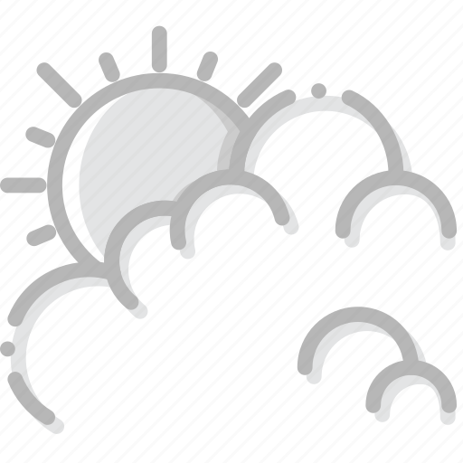 climate, cloudy, day, forecast, precipitation, weather icon