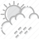 climate, forecast, precipitation, rain, summer, weather icon