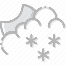 climate, forecast, night, precipitation, snowy, weather icon