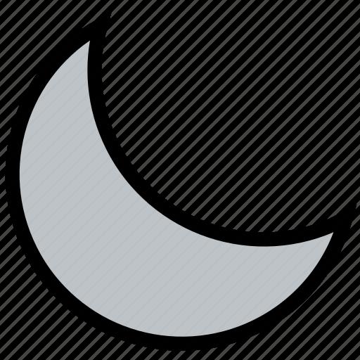 climate, forecast, moon, precipitation, weather icon