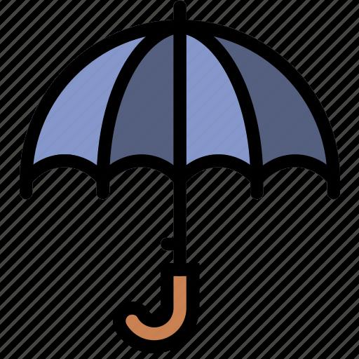 climate, forecast, precipitation, umbrella, weather icon