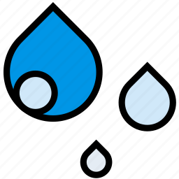 climate, forecast, precipitation, raindrops, weather icon