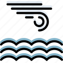 calm, climate, forecast, precipitation, sea, weather icon