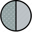 climate, first, forecast, moon, precipitation, quarter, weather icon