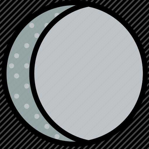 climate, crescent, forecast, moon, precipitation, waning, weather icon