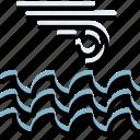 climate, forecast, ocean, precipitation, storm, weather icon