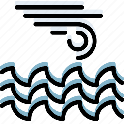 climate, forecast, ocean, precipitation, storm, weather icon