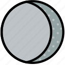 climate, forecast, gibbous, moon, precipitation, waning, weather icon