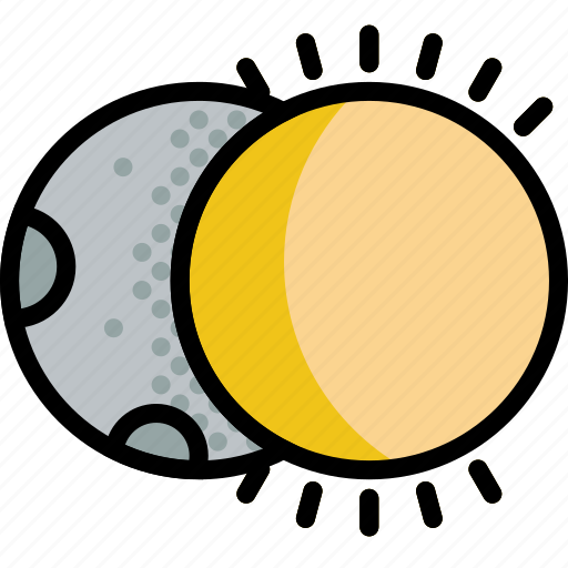 climate, eclipse, forecast, moon, precipitation, weather icon