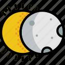 climate, eclipse, forecast, precipitation, solar, weather icon