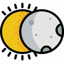 climate, eclipse, forecast, precipitation, solar, weather icon