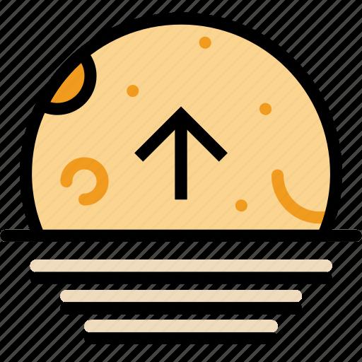 ascending, climate, forecast, moon, precipitation, weather icon