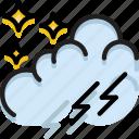 climate, forecast, nighttime, precipitation, storm, weather icon