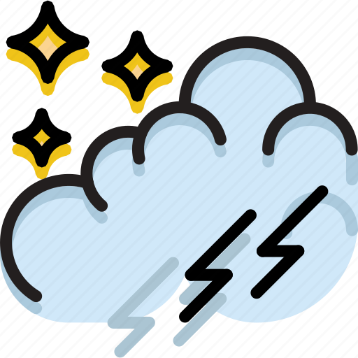 climate, forecast, nighttime, precipitation, storm, weather icon