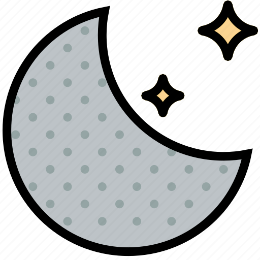 climate, forecast, moon, new, precipitation, weather icon