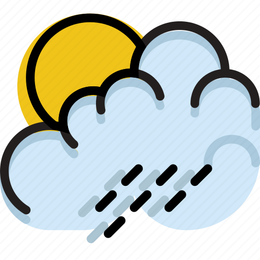 climate, forecast, morning, precipitation, rain, weather icon