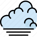 climate, forecast, low, precipitation, tide, weather icon