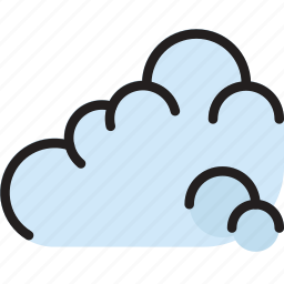 climate, cloudy, forecast, precipitation, weather icon