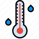 climate, forecast, high, precipitation, temperature, weather icon