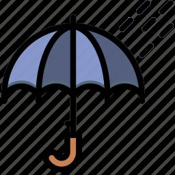 climate, forecast, precipitation, rainy, time, weather icon