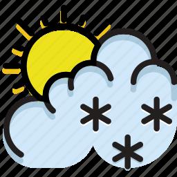 climate, drizzle, forecast, precipitation, weather icon