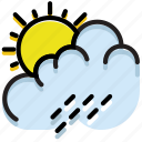 climate, forecast, precipitation, rain, summer, weather icon