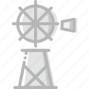 cowboy, desert, gun, mill, water, west, wild icon