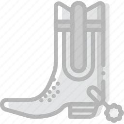 boots, cowboy, desert, gun, riding, west, wild icon