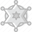 badge, cowboy, desert, gun, sheriffs, west, wild icon