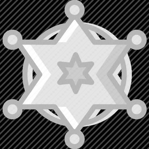 badge, cowboy, desert, gun, sheriffs, west, wild icon