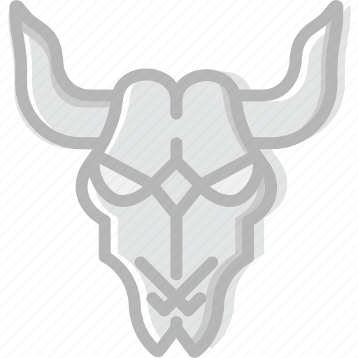 cattle, cowboy, desert, gun, skull, west, wild icon