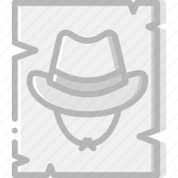 cowboy, desert, gun, poster, wanted, west, wild icon