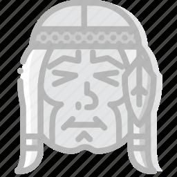 american, cowboy, desert, native, west, wild icon