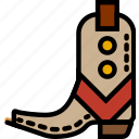 army, boots, cowboy, desert, union, west, wild icon