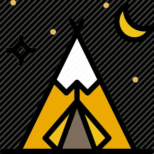 american, cowboy, desert, native, tent, west, wild icon