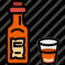 bottle, cowboy, desert, gun, west, whiskey, wild icon