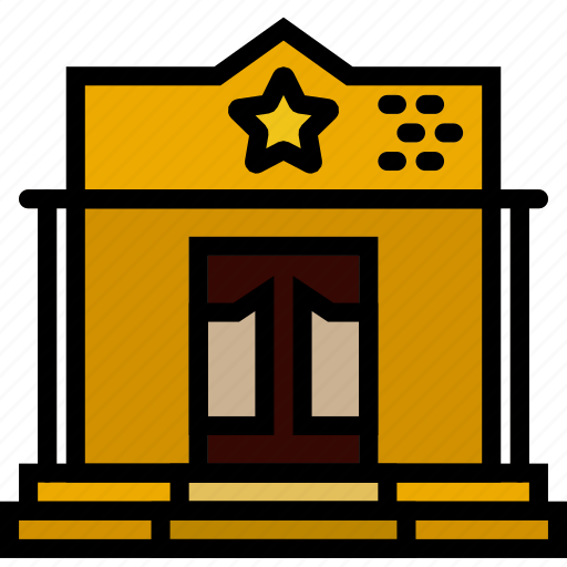 building, cowboy, desert, gun, sherriff, west, wild icon