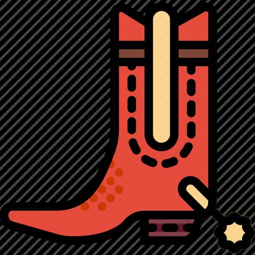 boots, cowboy, desert, gun, riding, west, wild icon