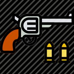 colt, cowboy, desert, gun, revolver, west, wild icon