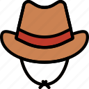 cowboy, desert, gun, hat, west, wild icon