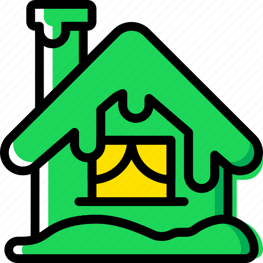 christmas, holiday, house, winter icon